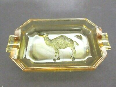Rare Akro Agate Camel Ashtray / Signed / 2 Known