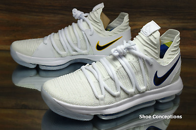 5e94c712f48d Nike Zoom KD10 White Game Royal 897815-101 Basketball Shoes Men s Multi Size