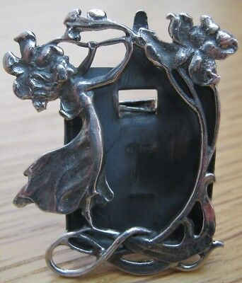 Gorgeous Hallmarked Sterling Silver Photo Frame WMF Nouveau Lady Picking Flowers