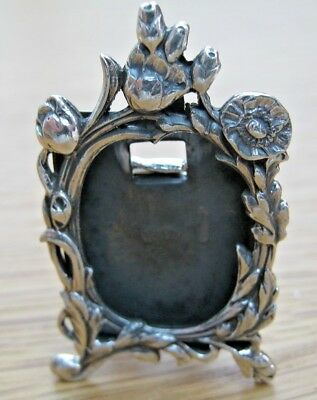 Gorgeous Hallmarked Sterling Silver Photo Frame Art Nouveau Tulip Style