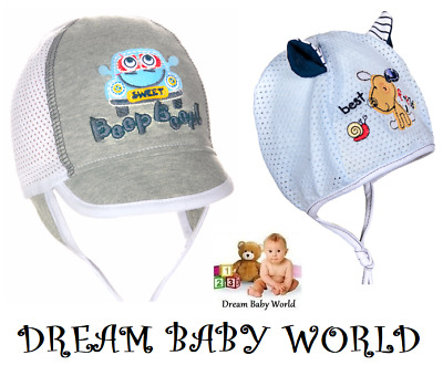100% RICH Cotton spring summer boys HAT 0-24 months TIE UP KIDS cap HATS BOY