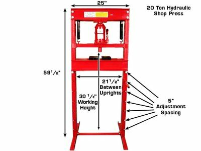Hydraulic Workshop Garage Shop Floor Standing Press 20 ton with Pump