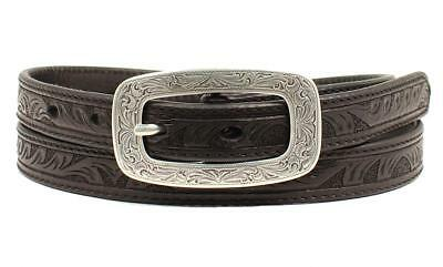 Ariat Western Womens Belt Leather Embossed Black A1515601
