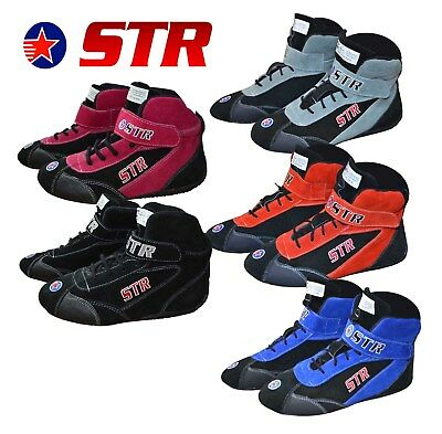 STR Oval Race Boots SFI 3.3/5 Approved / Racing / Fire Retardant - Youth / Kids