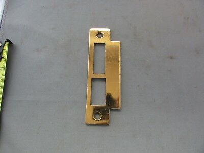 VTG Rosy Brass Copper Mortise Door Lock Strike Plate Striker Bolt Latch Double