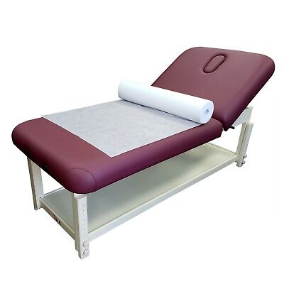 """69.5""""x30"""" 50 Sheet/Roll Disposable White Non-Woven Paper Exam Table Bed Cover"""