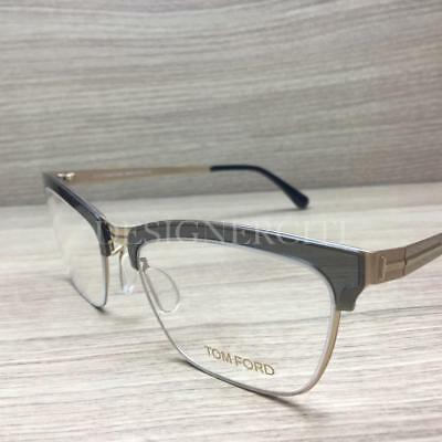 846128b26365a TOM FORD TF5392 5392 Eyeglasses Grey Pale Gold 020 Authentic 54mm ...