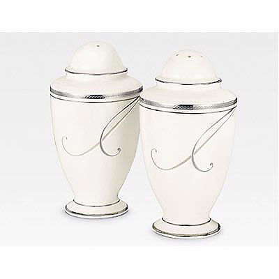 NEW Platinum Wave Salt and Pepper Shakers