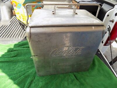 Vintage Rare Acton MFG Coca Cola Stainless Steel Cooler With Opener & Spout