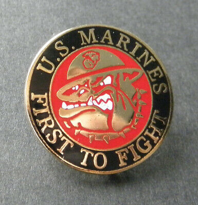 Us Marines First To Fight Usmc Devil Dogs Marine Corps Lapel Pin Badge 1 Inch