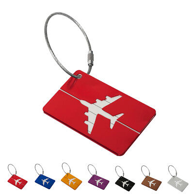 Travel Luggage Bag Tag Name Address ID Label Aluminium Suitcase Baggage