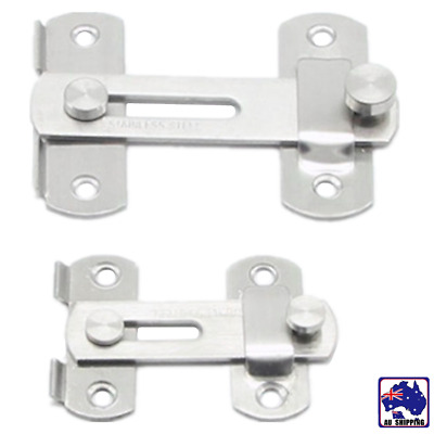 Stainless Steel Door Bolt Latch Slide Catch Lock Home Safety Gate Window HLO0008