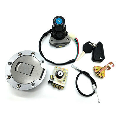 For kawasaki Ninja ZX6R ZX7R/7RR ZX9R Ignition Switch Fuel Gas Cap Lock & Key YR