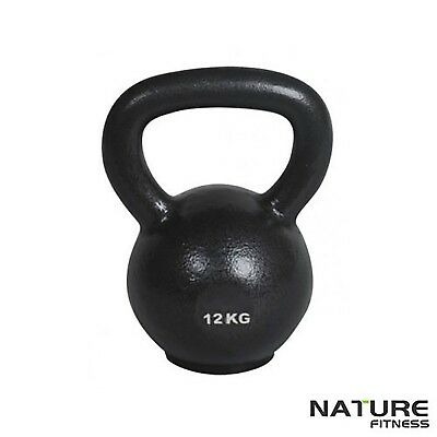 Nature Fitness 12kg Russian Classic Steel Kettlebell Gym for Home & Gym Training