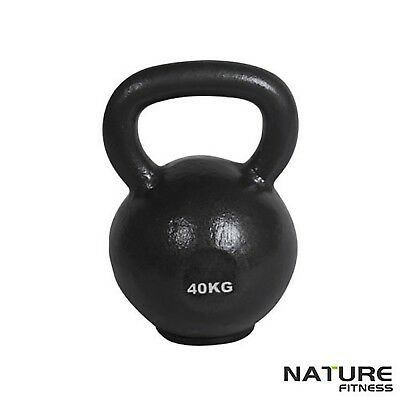 Nature Fitness 40kg Russian Classic Steel Kettlebell Gym Kettle Bell Weights New