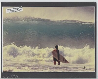 "Gas Chambers Surfer At Ehukai Beach, North Shore Haleiwa, Photo On 8X10"" Matt"