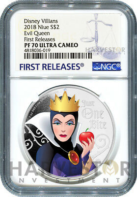 2018 Disney Villains - Evil Queen - First In Series - Ngc Pf70 First Releases