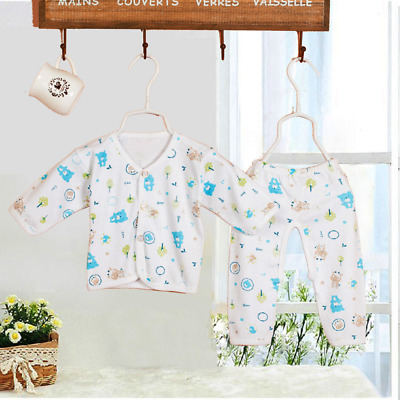2Pcs Newborn Baby Clothing High quality Cartoon Gowns Tops+Pants Underwear