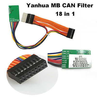 Fits MERCEDES MILEAGE CORRECTION CAN FILTER BLOCKER 18-IN-1 BY YANHUA