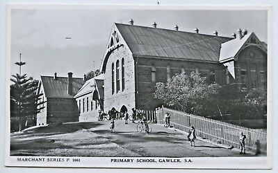 1950's Rp Npu Postcard Gawler Primary School Sth Aust Marchant Photo G65