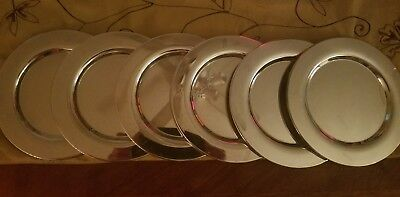 Set of 6 Vintage Oneida Silversmiths Silver Plated / Silverplate Dessert Plates