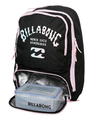 Billabong Backpack Black Womens Ladies Girls New Bags Bag Pencil Case Lunch Box