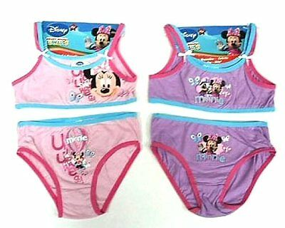 Set Intimo Top Slip Completo Disney Minnie Rosa  4-5 Anni