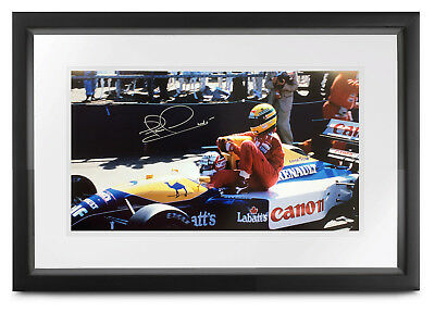 Nigel Mansell SIGNED Taxi for Ayrton Senna (pits), 1991 Formula 1, 50x25cm photo