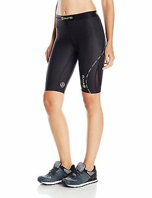 Skins Womens DNAmic Women's Compression 1/2 Tights/Shorts, Black, X-Large