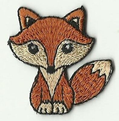 écusson ECUSSON PATCHE PATCH  THERMOCOLLANT ENFANT RENARD FOX DIM. 3,5 X 3,5 CMS