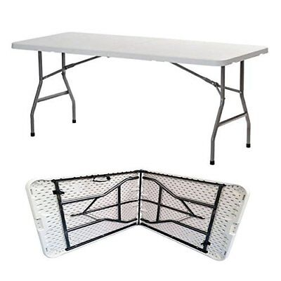 6Ft 1.8 Metre Heavy Duty Portable Folding Rectangular Table Catering Camping Bbq