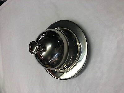 Silver Plated Round Covered Butter Covered Dish & Liner