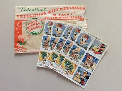 Lotto 30 Seals Natalizie Walt Disney Rare  Vintage  Anni '50 Made In Britain