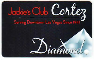 EL CORTEZ casino*JACKIES CLUB **DIAMOND** BLANK~ las vegas nv*Slot/Players card