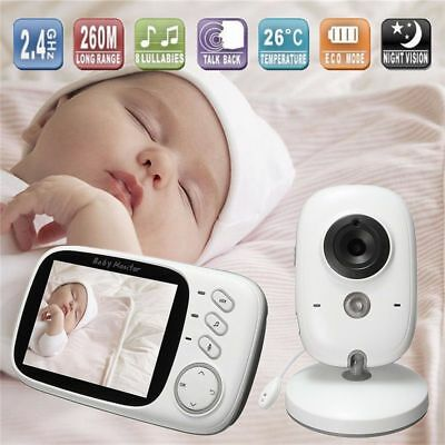 3.2'' LCD Digital Baby Video Monitor Audio Wireless Security Camera Night Vision