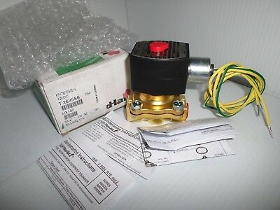 "***NEW IN BOX*** ASCO  EFHT8210G001V 2-Way NC 3/8"" SOLENOID VALVE 12Vdc"