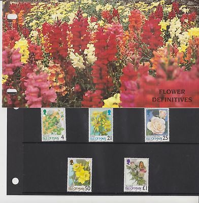 Isle of Man Presentation Pack 1998 Flower Definitive Stamps 4p-£1 10% off 5