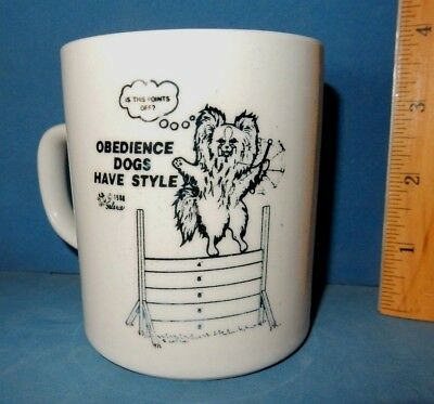 PAPILLON DOG  OBEDIENCE DOGS HAVE STYLE  MUG   coffee cup ceramic