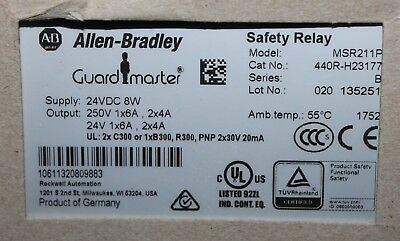 ALLEN BRADLEY MSR211P 24VDC GUARD MASTER Safety Relay 440R H23177