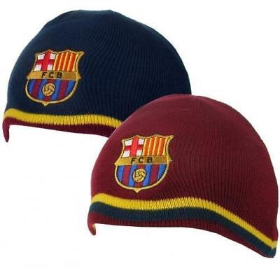 FC-Barcelona-Reversible-Knit-Hat  - Brand New Official Licensed Product