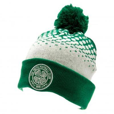 Celtic FC Adults Unisex Official Cuff Bobble Hat  - New Official Licensed Prodct