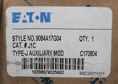 EATON CUTLER HAMMER J1C 2NO 2NC Vacuum Clearing Auxiliary Contact 9084A17G04