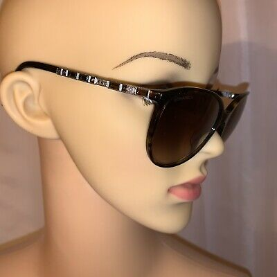 21fe6eb7c6 PRE-LOVED AUTHENTIC CHANEL oversize WRAP SUNGLASSES w gold tone CC ...