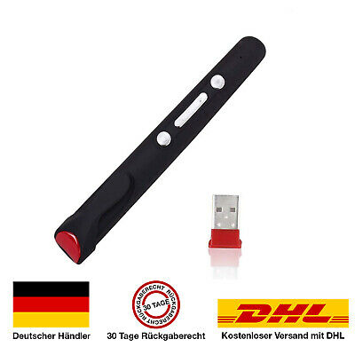 LP100 Roter 1mW Laserpointer + Batterie- Ideal für Power Point Präsentationen