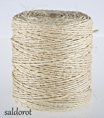 2-100m  2ply Natural Strong Sisal Jute Twine String Hessian Rustic Cat Scratcher