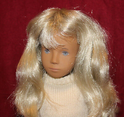 "16"" Vintage Sasha Doll Blonde,Blue Eyes and Sasha Clothes 207,Made In England."