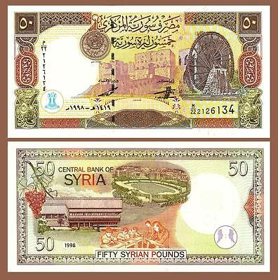 Syria 50 Pounds 1998 Unc Consecutive 20 Pcs Lot P-107