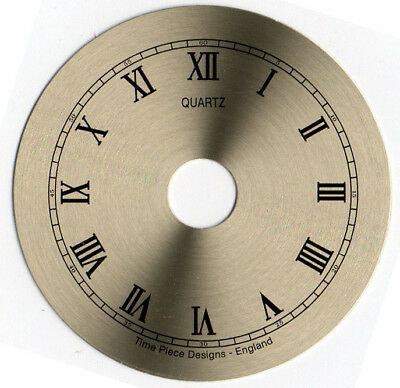 Clock dials, brushed gold, Outside Diameters 40, 55 and 63mm