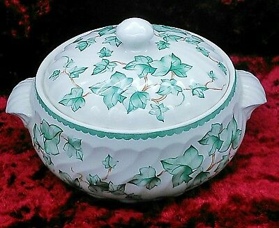 Bhs British Home Stores Country Vine Green Ivy Leaves 8 Inch Lidded Tureen