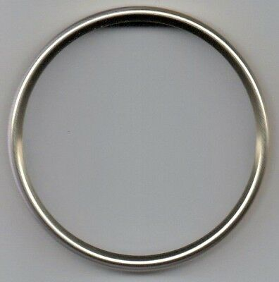Clock dial bezels, polished light gold, OD 56 - 159mm